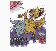 Big Godzilla Battle 1 Kids Tee
