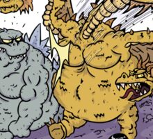 Big Godzilla Battle 1 Sticker
