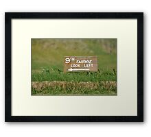 Moonah Links Series #124 Framed Print