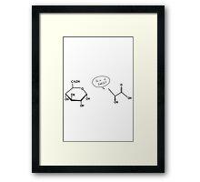 Glucose: So sweet Framed Print
