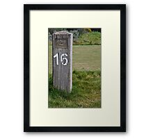 Moonah Links Series #204 Framed Print
