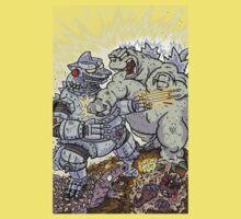 Big Godzilla Battle 2 Kids Tee