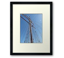 Reaching to the Sky! 'Europa's' mast. one of three. Framed Print