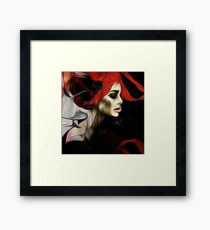 portrait of sadness Framed Print