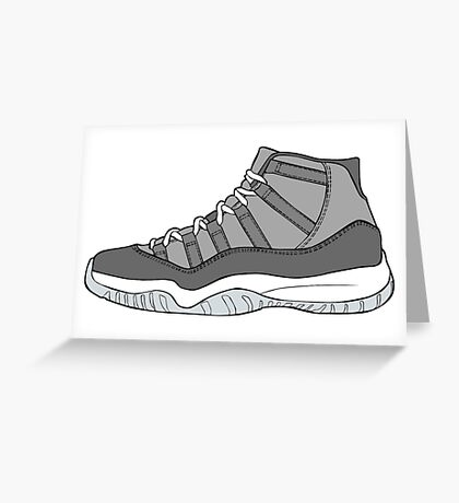 J11 Cool Grey New Greeting Card