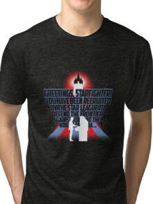 Greetings, Starfighter! Tri-blend T-Shirt