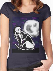 Halloween night Women's Fitted Scoop T-Shirt