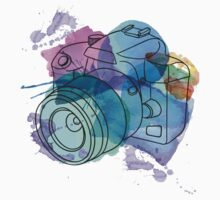 Watercolor camera One Piece - Short Sleeve