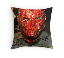 The Orphan Killer (Autographed) Mask Poster Throw Pillow