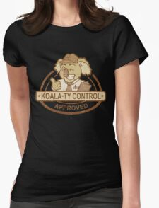 Koala-ty Control Womens Fitted T-Shirt