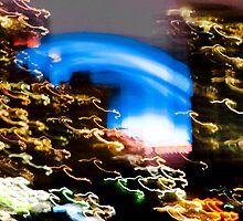 Toronto city distorted lights by Cristian Gil