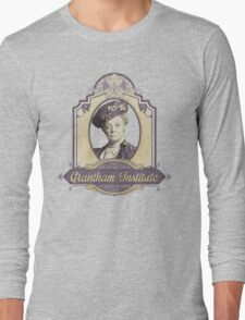 Downton Abbey Inspired - Lady Violet - Grantham Institute - Lady Violet Finishing School - Dowager's Etiquette Teachings Long Sleeve T-Shirt