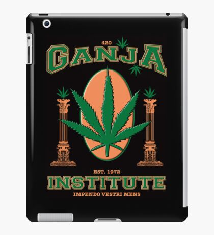 Ganja Institute - In support of medical marijuana iPad Case/Skin