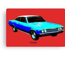 Muscle Car - Chevy Malibu Canvas Print