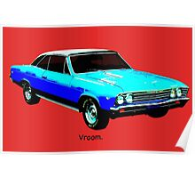Muscle Car - Chevy Malibu Poster