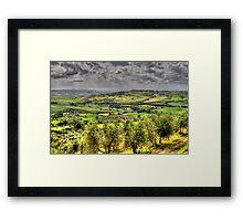 Tuscany - Looking towards Pienza Framed Print