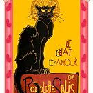 Le Chat D'Amour With Heart And Cherub Border by taiche