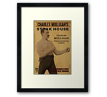 Charles Mulligan's Steakhouse Print Framed Print