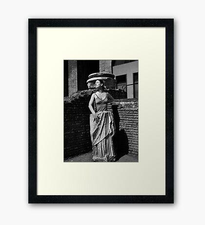 Portrait, Colosseum, Rome   Framed Print