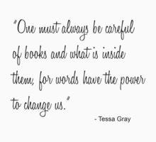 Tessa Books by keirrajs