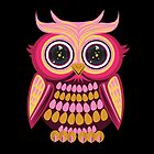 Star Eye Owl - Pink Orange 2 by Adamzworld