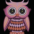 Star Eye Owl - Purple Orange 2 by Adamzworld