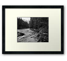 McDonald Creek, Glacier N.P.   Framed Print