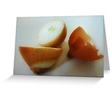 Shapes & colours of an Onion Greeting Card