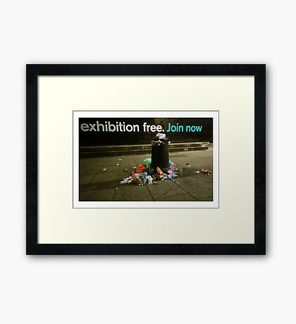 Exhibition Free (join now) Framed Print