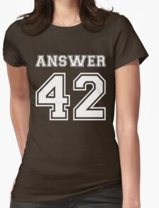 42 - Answer Womens Fitted T-Shirt