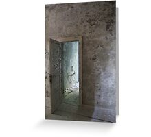 Abandoned asylum. Old Lier Mental Hospital, Norway. Built 1921, closed 1985. Greeting Card