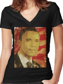 Da Man 02 Women's Fitted V-Neck T-Shirt