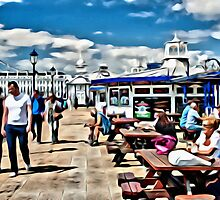 on the pier - 3 by Paul Stevens