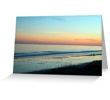 The Day Ends Greeting Card