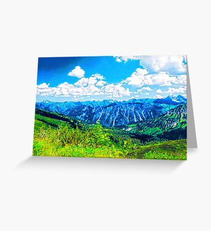 Alpine Bliss VRS2 Greeting Card