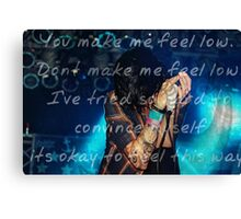 """""""Low"""" } Sleeping With Sirens Canvas Print"""