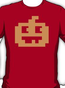 8 Bit Pixel Jack O' Lantern Pumpkin Head T-Shirt