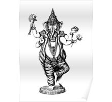 God Ganesha ink pen drawing Poster
