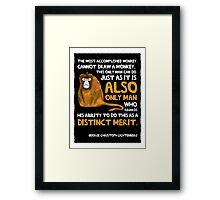 Clever Monkey Framed Print