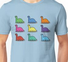Multicoloured Dinosaurs Unisex T-Shirt