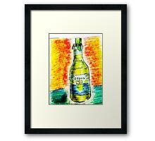 A beer on me... Framed Print