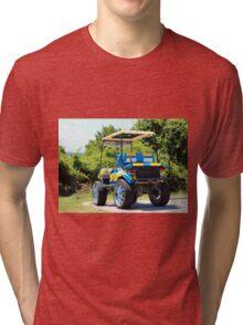 Two Tone Golf Cart Tri-blend T-Shirt
