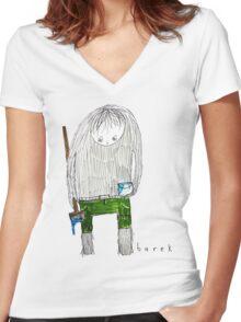Barek Troll Painter Women's Fitted V-Neck T-Shirt