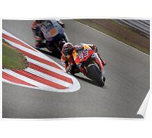 MOTO GP Silverstone 2013 Marquez Poster