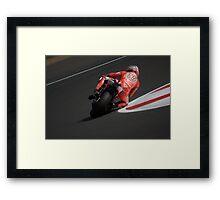 Moto GP Silverstone 2013 Hayden Framed Print