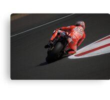 Moto GP Silverstone 2013 Hayden Canvas Print