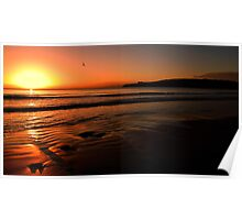 Sun set primrose sands beach  Poster
