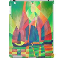 Sea of Green With Cubist Abstract Junks iPad Case/Skin
