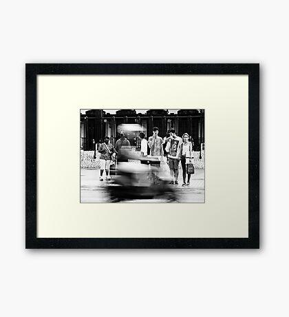 The Moped Framed Print