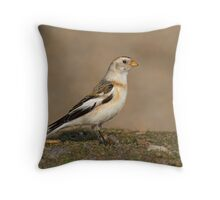 SNOWBUNTING Throw Pillow